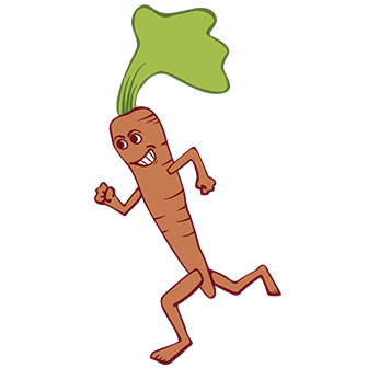 foodbank farm 5k running carrot graphic